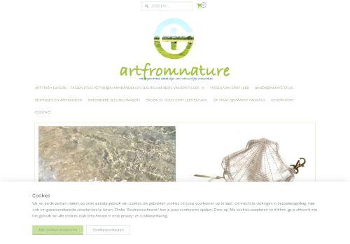 Screenshot van artfromnature.nl
