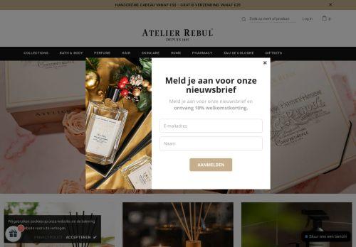 Screenshot van atelierrebulstore.nl
