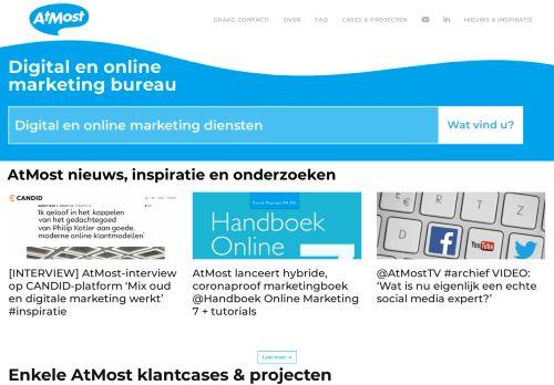 Screenshot van atmost.nl