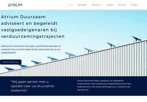 Screenshot van atrium-duurzaam.nl