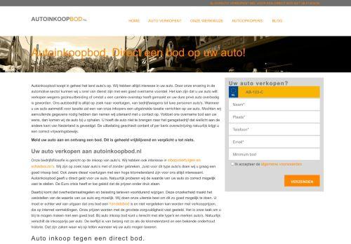 Screenshot van www.autoinkoopbod.nl
