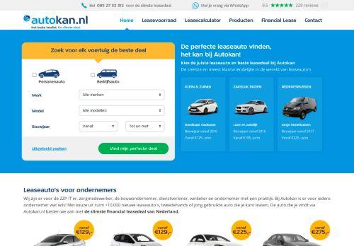 Screenshot van www.autokan.nl