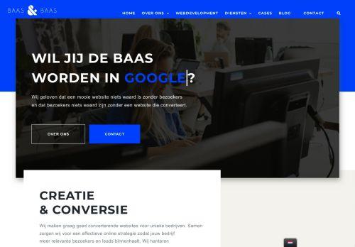 Screenshot van baasenbaas.nl
