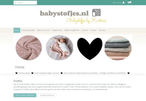 Screenshot van babystofjes.nl