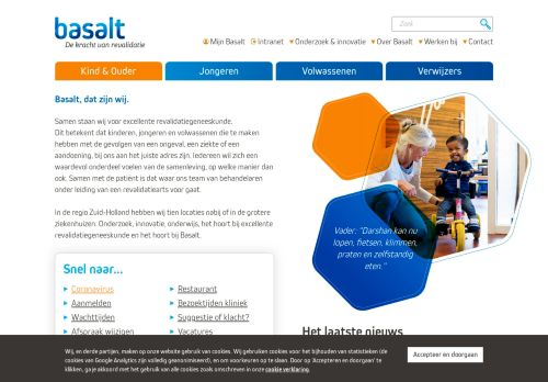 Screenshot van basaltrevalidatie.nl