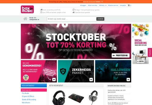 Screenshot van bax-shop.nl
