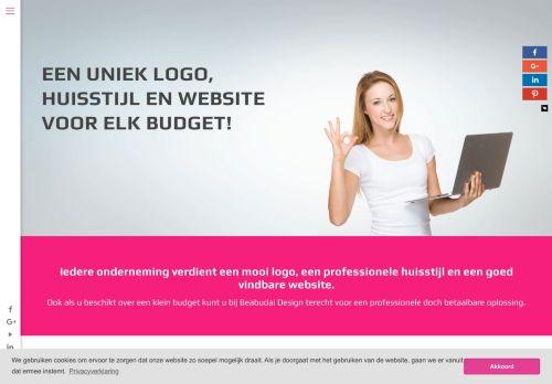 Screenshot van beabudai-design.nl