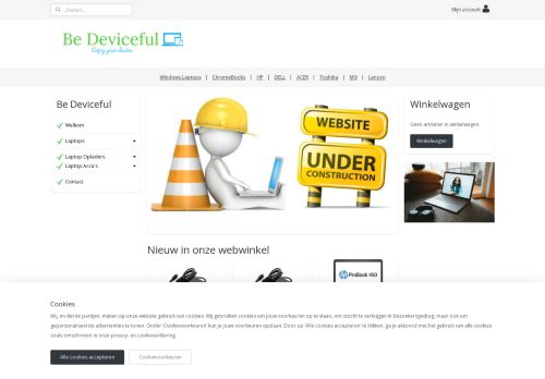 Screenshot van bedeviceful.nl